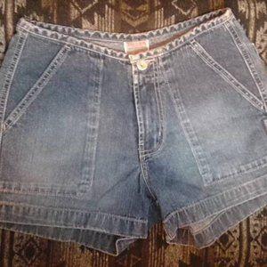 Silver Jean Shorts Size 6